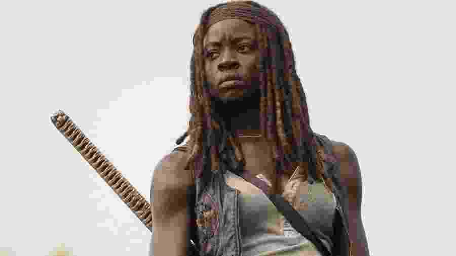 """Michonne (Danai Gurira) em cena de """"The Walking Dead"""" - Divulgação"""