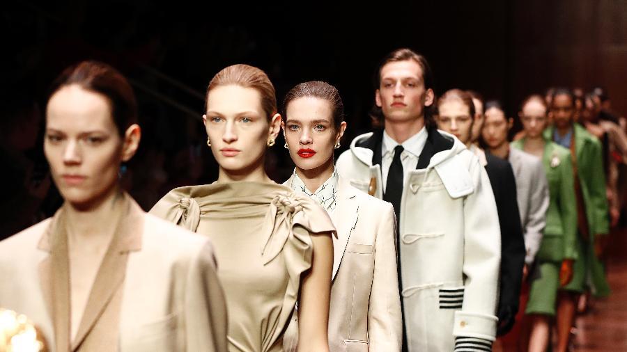 Desfile da Burberry na Semana de Moda de Londres aconteceu no último domingo (17) - Getty Images