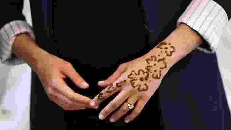 Meghan Markle faz tatuagem de henna em visita ao Marrocos - Reuters - Reuters