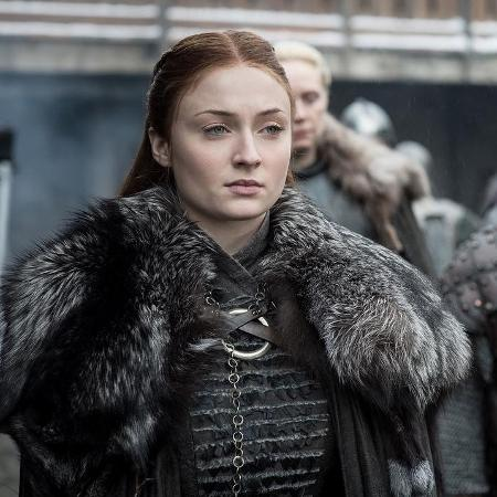 """Sansa (Sophie Turner) em cena da oitava temporada de """"Game of Thrones"""" - Divulgação"""