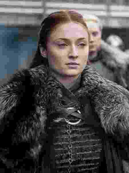 """Sansa (Sophie Turner) em cena da oitava temporada de """"Game of Thrones"""" - Divulgação - Divulgação"""