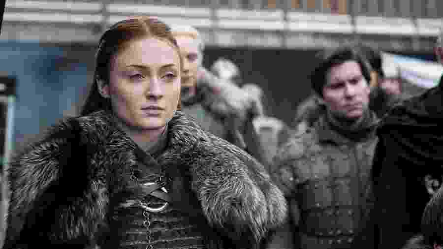 Sansa (Sophie Turner) em cena da oitava temporada de Game of Thrones - Divulgação