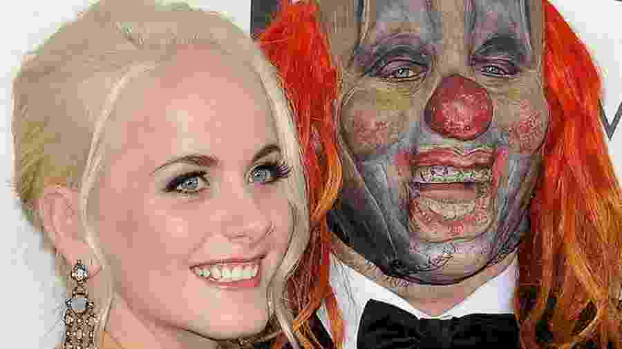Shawn Crahan, do Slipknot, com a filha Gabrielle - Axelle/Bauer-Griffin, Getty Images