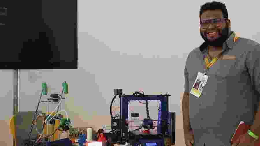 Lucas Lima criou uma impressora 3D de baixo custo que deu origem a uma startup com proposta social, iniciativa premiada - Alessandro Costa/Divulgação Shell