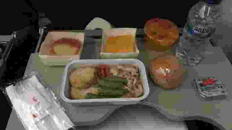 Nada de luxo na hora de comer no primeiro voo da Garuda Indonesia ao Brasil - Larissa Coldibeli - Larissa Coldibeli