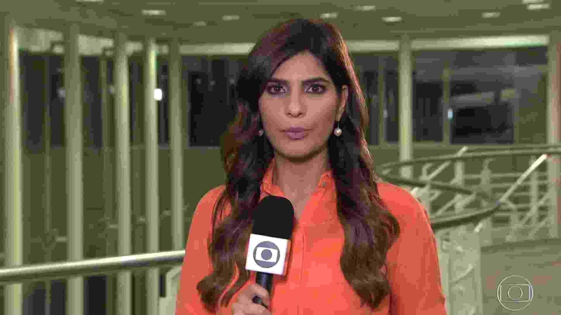 Andreia Sadi em reportagem do Jornal Nacional, em 2019 - Reprodução