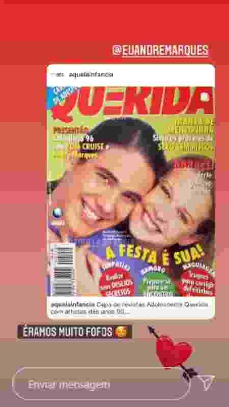 Fernanda Rodrigues posta foto de capa de revista com André Marques - Reprodução/Instagram - Reprodução/Instagram