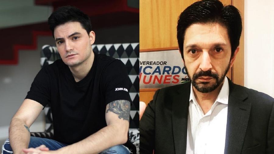 Juiz indeferiu pedido de Ricardo Nunes (à direita) sobre retirada de publicação de Felipe Neto - Reprodução/Instagram