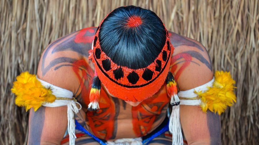 Kuarup em aldeia Kamayurá, Parque Indígena do Xingu (MT) - Hilda Azevedo