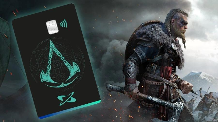 """Cartão de crédito Credicard com skin de Assassin""""s Creed: desconto em jogos da Ubisoft - Divulgação/Credicard"""
