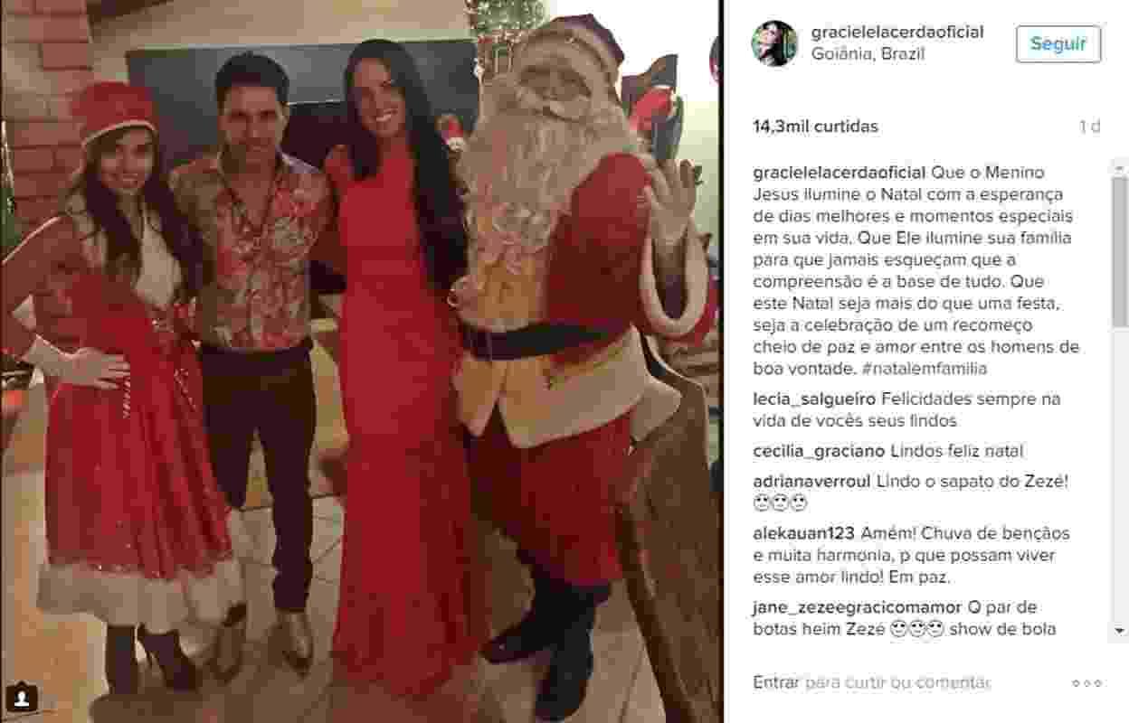 Graciele Lacerda passa seu primeiro Natal ao lado de Zezé Di Camargo - Reprodução/Instagram/gracielelacerdaoficial