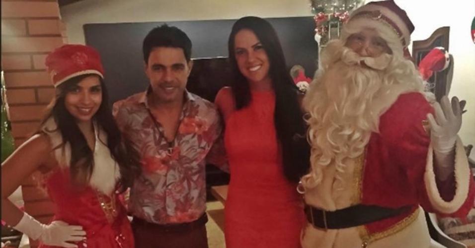 Graciele Lacerda passa seu primeiro Natal ao lado de Zezé Di Camargo