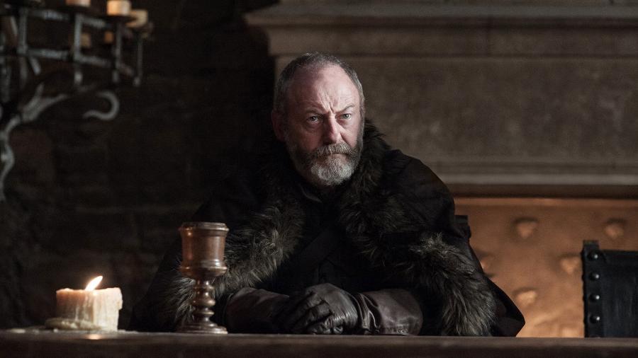 """Sor Davos em cena da sétima temporada de """"Game of Thrones""""  - Divulgação/HBO"""