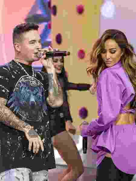 O cantor colombiano J. Balvin, no Brasil para divulgar seu trabalho, gravou com Sabrina Sato na Record - Edu Moraes/Record TV - Edu Moraes/Record TV
