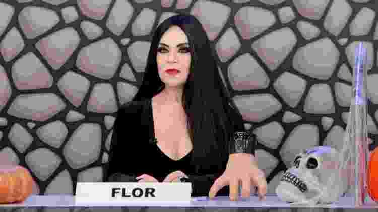 """Flor usou peruca para o """"Jogo dos Pontinhos"""" especial de Halloween e gostou de resultado - Lourival Ribeiro/SBT - Lourival Ribeiro/SBT"""