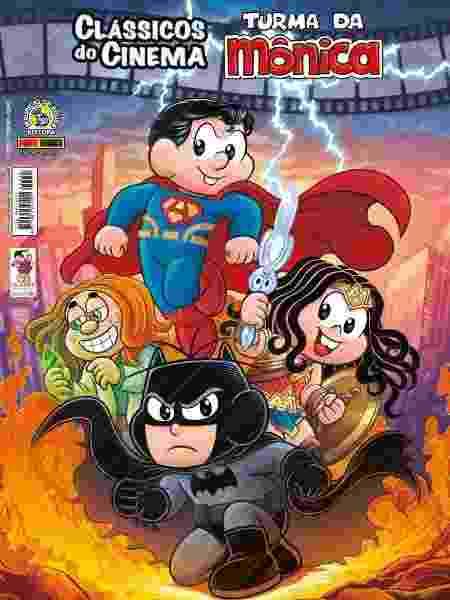 """Capa do gibi """"Batmenino vs Super-Home"""" - Reprodução"""