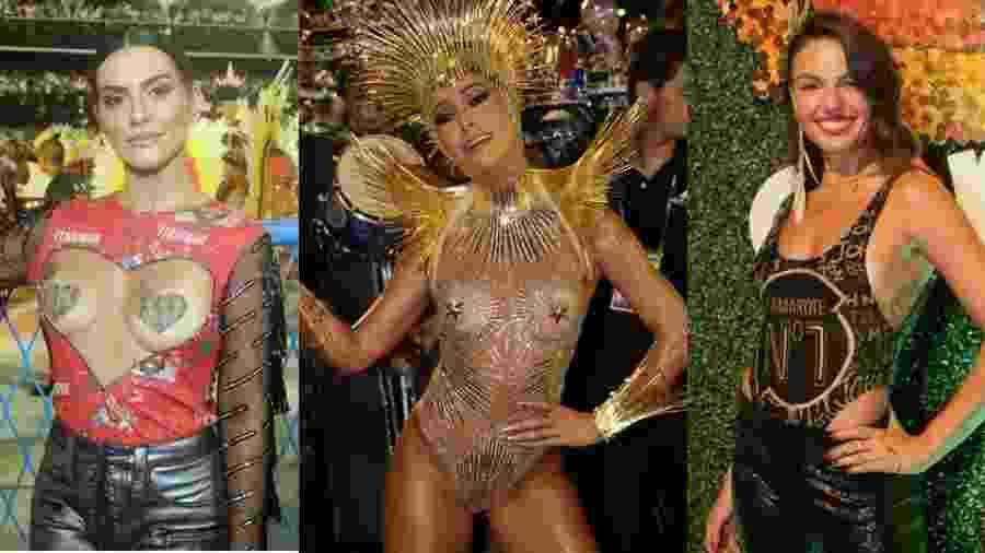 Cleo, Sabrina e Isis: elas deram o que falar no primeiro dia de desfile do Grupo Especial, no Rio - Brasil News / Ag. News