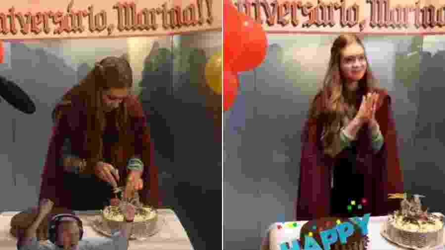"""Marina Ruy Barbosa ganha festa nos bastidores de """"Deus Salve o Rei"""" - Reprodução/Instagram"""