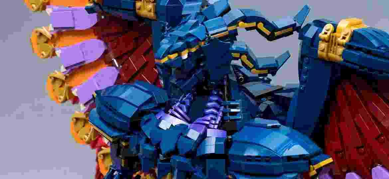 "Estatueta de Bahamut, de ""Final Fantasy X"", feita com peças de Lego - Marius Herrmann/Flickr"