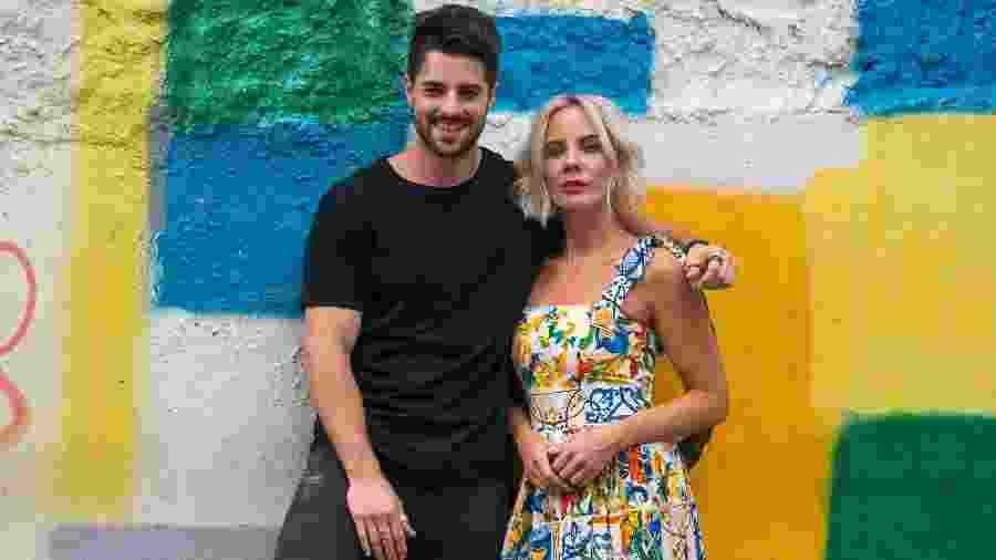 """Alok e Ina Wroldsen na gravação do clipe de """"Favela"""", no Rio de Janeiro - Jonathan Chabala/Divulgação"""