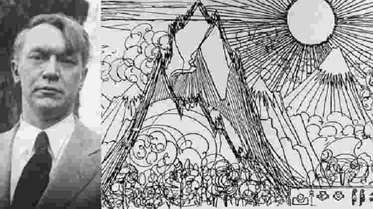 """Vachel Lindsay, autor de """"The Golden Book of Springfield"""" - Reprodução - Reprodução"""