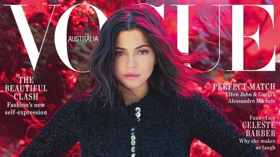 Kylie Jenner na capa da Vogue Austrália - Reprodução/ Instagram