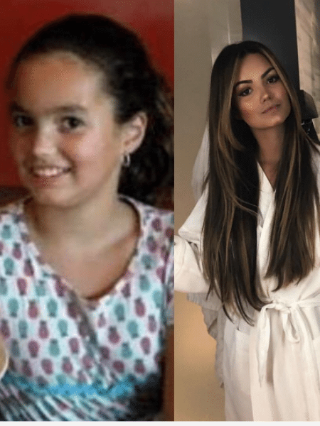 Suzanna Freitas com 8 e com 18 anos - Reprodução/Instagram