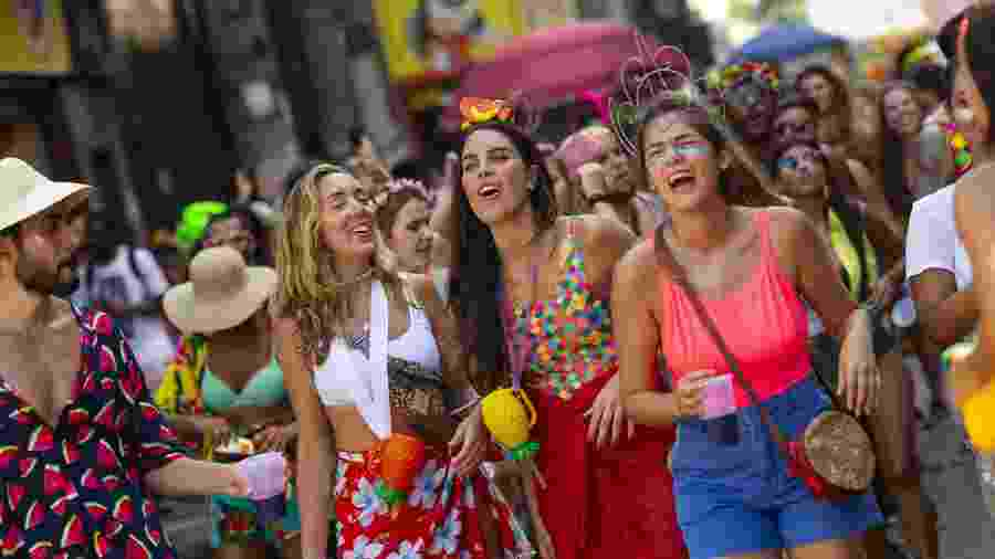 Folionas se divertem em pré-Carnaval do bloco Amigos da Onça - Douglas Shineidr/UOL