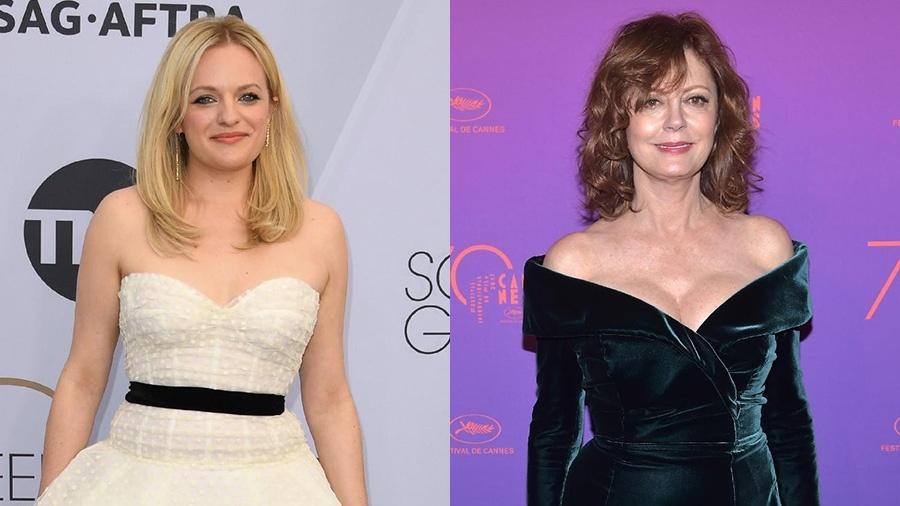 """Elisabeth Moss e Susan Sarandon estrelarão o filme """"Call Jane"""" - AFP e Getty Images"""