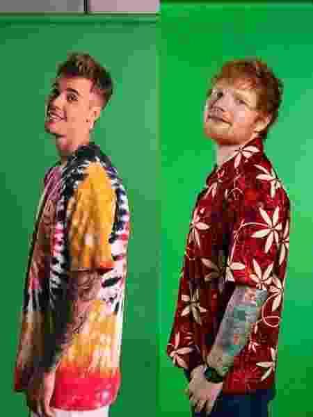 Justin Bieber e Ed Sheeran - Reprodução/Facebook