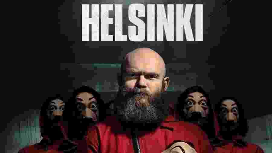 Helsinki, personagem de Darko Peric, em pôster da parte 3 de La Casa de Papel - Divulgação