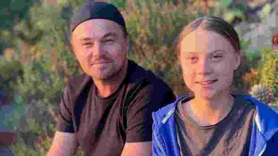 Leonardo DiCaprio encontro Greta Thunberg  - Reprodução/Instagram