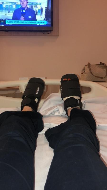 Rachel Sheherazade voltou a se internar para nova cirurgia nos pés - Divulgação