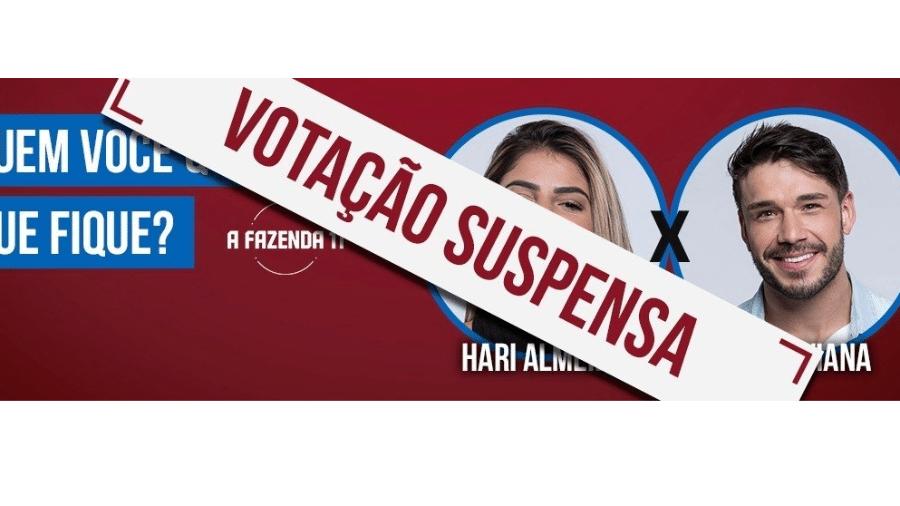 Record suspense votação entre Hariany e Lucas - Reprodução