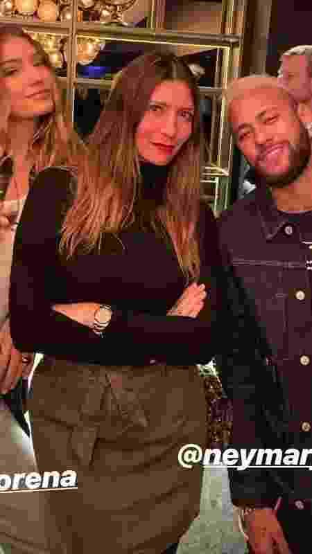 Neymar participa de evento de marca italiana ao lado de modelos - Reprodução/Instagram - Reprodução/Instagram