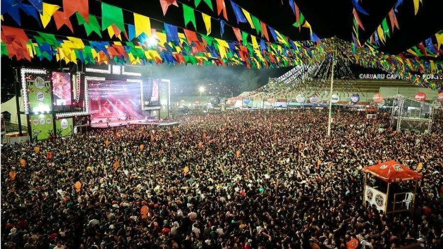 Na festa de São João do ano passado, Caruaru recebeu 2 milhões de turistas, segundo a prefeitura - Prefeitura de Caruaru/Divulgação