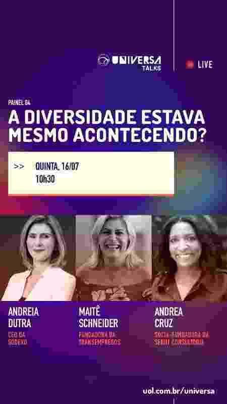 Universa Talks - mulher no mercado de trabalho - dia 04 - Arte/UOL - Arte/UOL