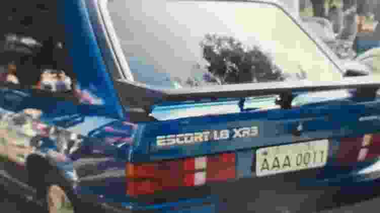ford escort xr3 azul1990 placa aaa 0011 primeiras placas cinza do Brasil Jaime Nunes da Silveira Filho - Arquivo pessoal - Arquivo pessoal