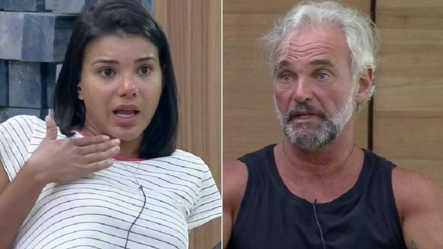 A Fazenda 2020: Jakelyne Oliveira e Mateus Carrieri discutem após a 12ª roça  - Reprodução/Playplus