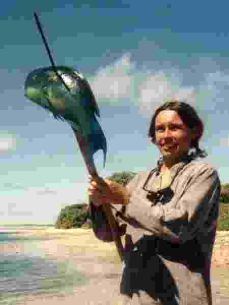 Anne mostrou talento para pescaria - Arquivo pessoal - Arquivo pessoal