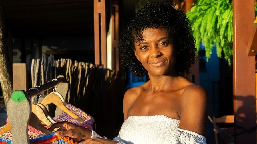"""Edivanda da Silva, conhecida como """"Vanda do Crochê"""", mora e trabalha em Jericoacoara (CE) - Hugo Oliveira"""
