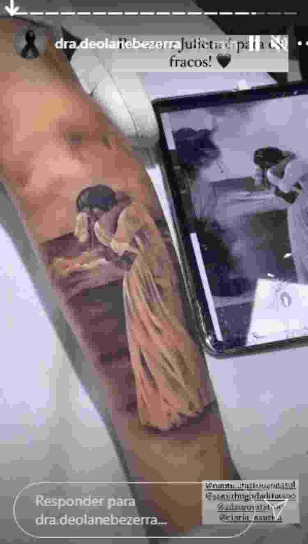Viúva de MC Kevin faz tatuagem em homenagem ao cantor - Reprodução/Instagram - Reprodução/Instagram