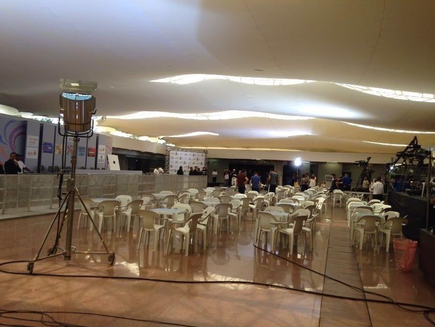 9.fev.2016 - Tudo pronto no Anhembi para o início da apuração das notas dos desfiles das escolas de samba de São Paulo
