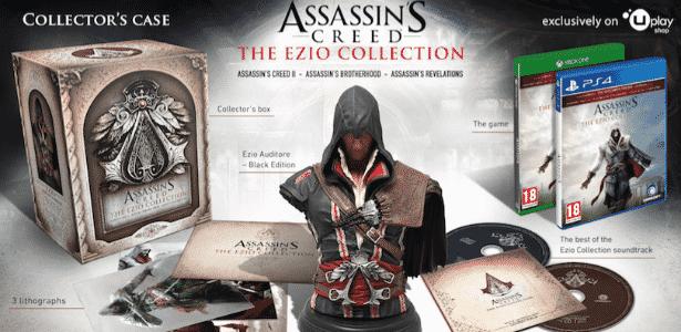 """Busto de Ezio é o grande destaque da edição especial de """"Assassin's Creed:"""" The Ezio Collection"""" - Divulgação"""