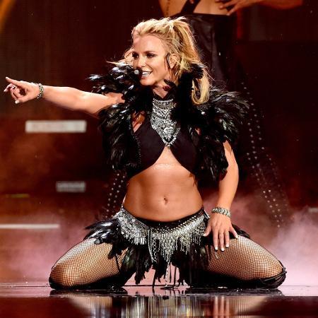 24.set.2016 - Britney Spears se apresenta no festival iHeartRadio Music, na T-Mobile Arena, em Las Vegas - Kevin Winter/Getty Images/AFP