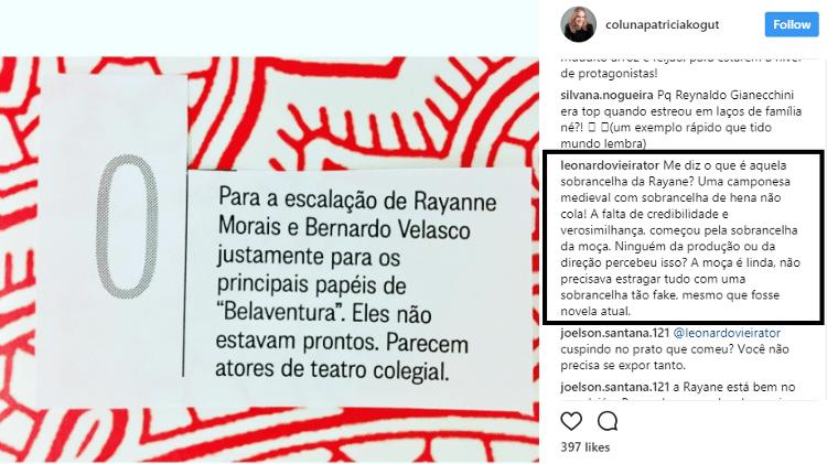 Reprodução/Instagram/colunapatriciakogut