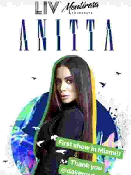 Anitta - Reprodução/Instagram - Reprodução/Instagram