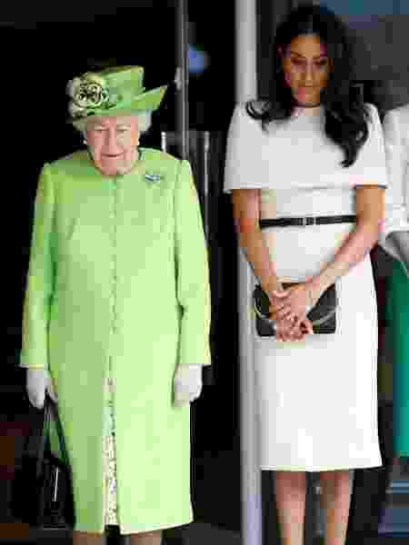 Meghan e a rainha em seu primeiro compromisso oficial - Getty Images - Getty Images