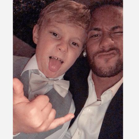 Neymar e o filho, David Lucca - Reprodução/Instagram