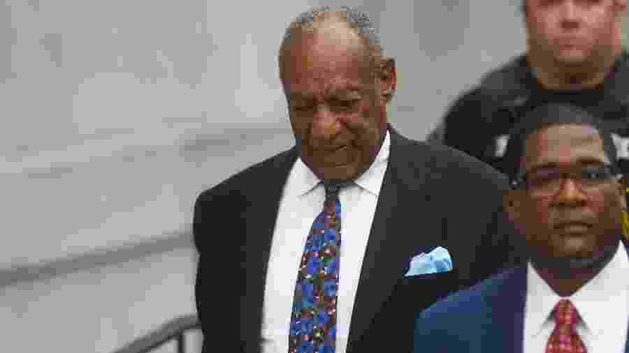 Bill Cosby é fotografado ao chegar para julgamento nos Estados Unidos - Mark Makela/Getty Images